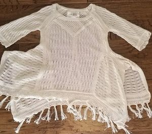 (Anthro) Angel of the North Loose-Weave Sweater